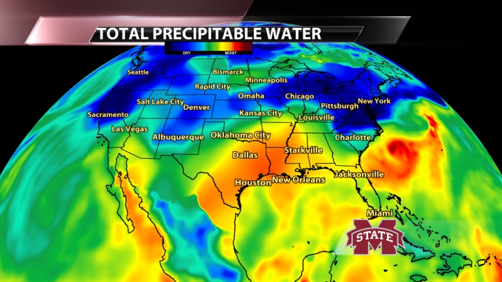 Current Total Precipitable Water